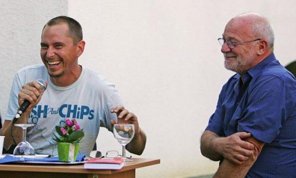 Likó Marcell és Géczi János egy korábbi beszélgetésen. Fotó: veol.hu