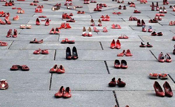 Femicide – installáció. Fotó: europeandatajournalism.eu