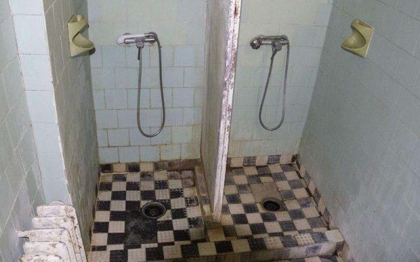 Fürdőszoba a budapesti Szent János Kórházban. Fotó: Molnár Ádám
