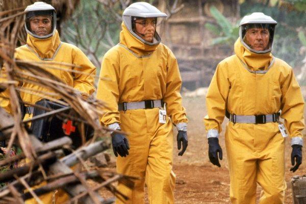 A témával foglalkozó eddigi legismertebb film A vírus. A képen a főszereplők: balról jobbra: Cuba Gooding Jr., Kevin Spacey és Dustin Hoffmann