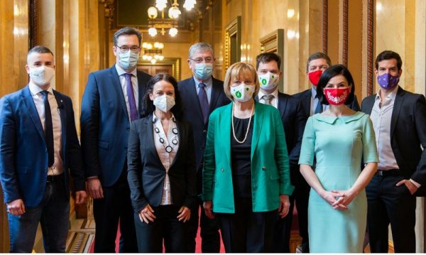 Az ellenzéki pártok vezetőiről korábban készült kép. Fotó: 444.hu