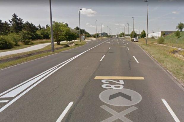 A 82-es út hírhedt szakasza. Fotó: googlemaps.com